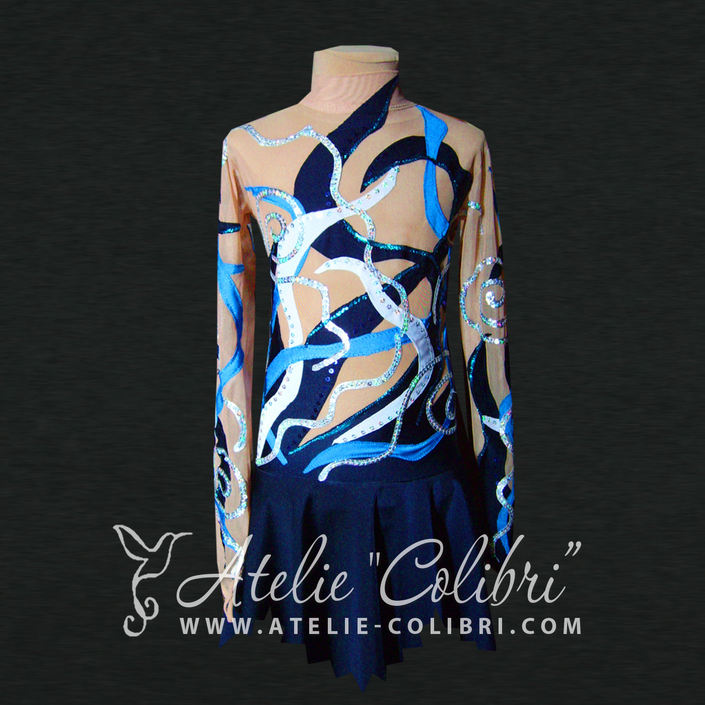 Leotards for Ice Skating | Atelier Colibri |  ( F_0003_1 )