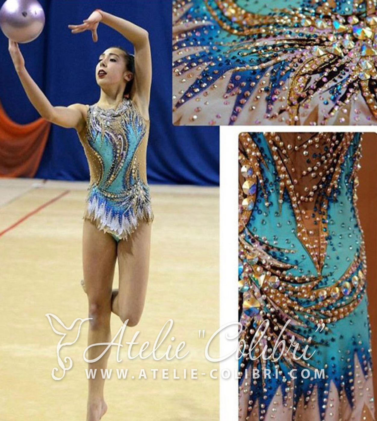 Sometimes customers asked us to repeat design leotards that they saw at the competitions, or online. We present to you some of our work and we bring our thanks to the authors, who created the originals.  The idea of this model is taken from a photo, master unknown to us. Please let us know if you know who the author of the original.