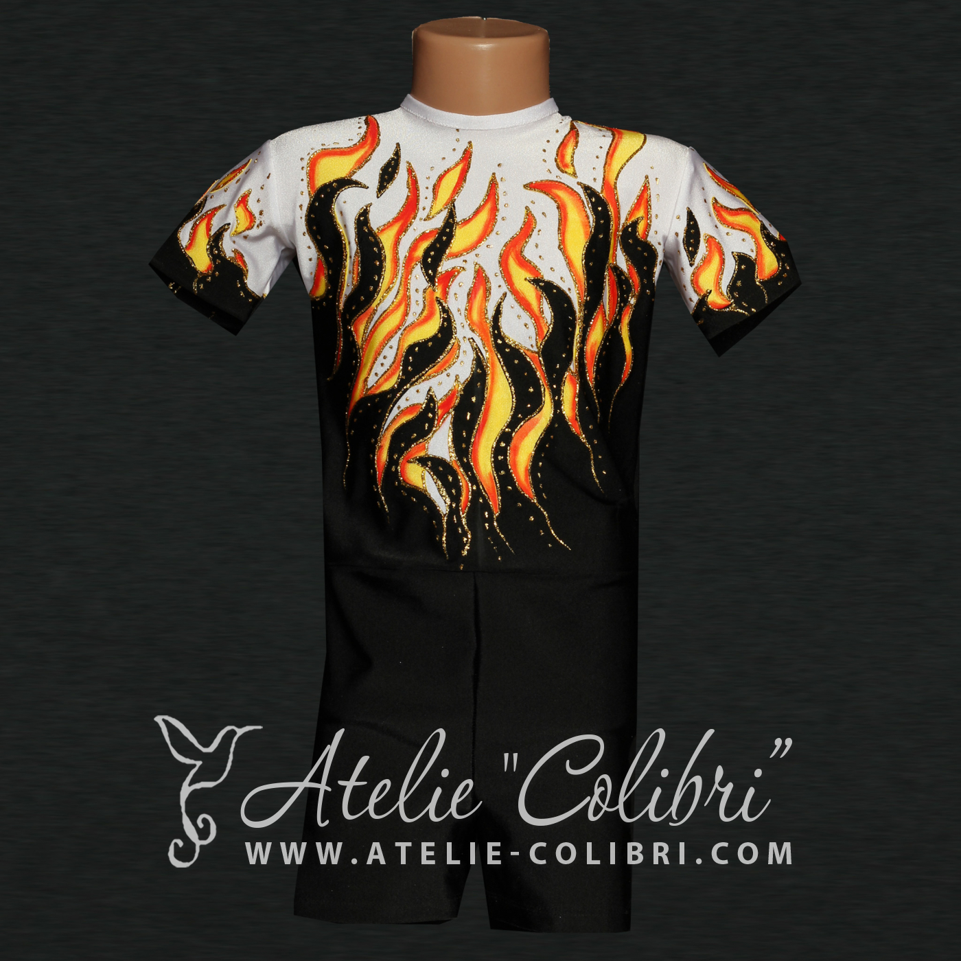 Leotards for Aerobics | Atelier Colibri | Flame ( SA_0008_1 )